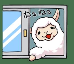 Alpaca wooly sticker #2320941