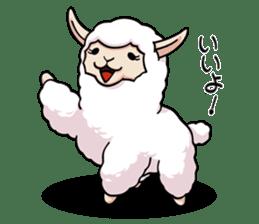 Alpaca wooly sticker #2320943