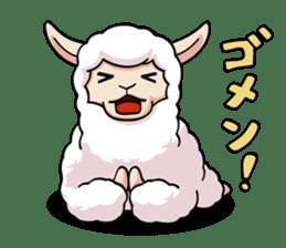 Alpaca wooly sticker #2320945