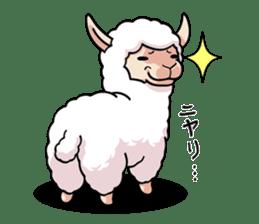Alpaca wooly sticker #2320946