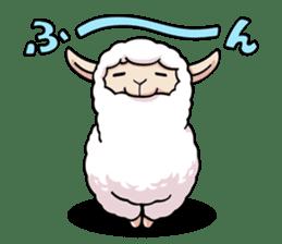 Alpaca wooly sticker #2320947