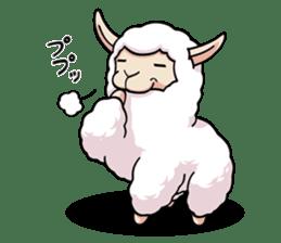 Alpaca wooly sticker #2320948