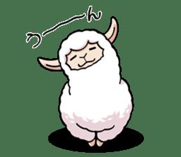 Alpaca wooly sticker #2320949