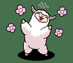 Alpaca wooly sticker #2320952