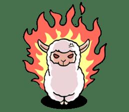 Alpaca wooly sticker #2320953