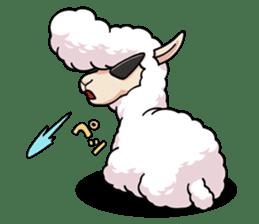 Alpaca wooly sticker #2320954