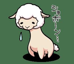Alpaca wooly sticker #2320956