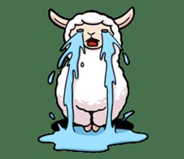 Alpaca wooly sticker #2320957