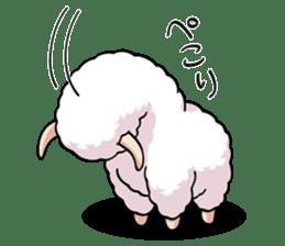 Alpaca wooly sticker #2320963