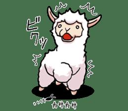 Alpaca wooly sticker #2320964