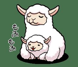 Alpaca wooly sticker #2320965