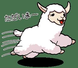 Alpaca wooly sticker #2320969