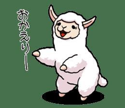 Alpaca wooly sticker #2320970