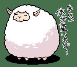 Alpaca wooly sticker #2320971