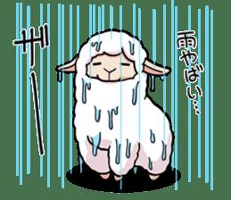 Alpaca wooly sticker #2320975
