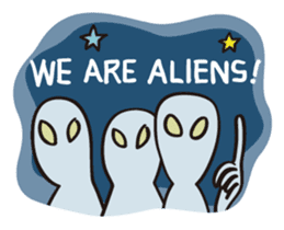 ALIEN UFO (en) sticker #2321301
