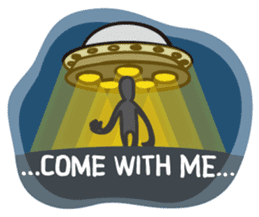 ALIEN UFO (en) sticker #2321329