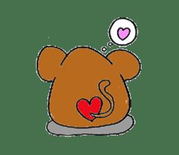 Round animals sticker #2326340