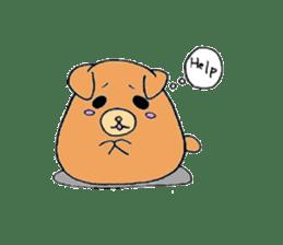 Round animals sticker #2326342