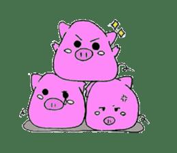 Round animals sticker #2326348