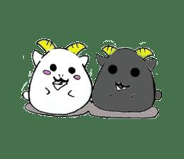 Round animals sticker #2326358