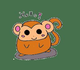 Round animals sticker #2326369