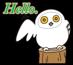 snowy owl sticker #2327096