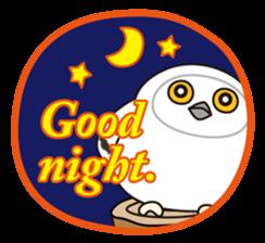 snowy owl sticker #2327098