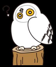 snowy owl sticker #2327102