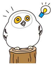snowy owl sticker #2327103