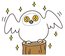snowy owl sticker #2327105