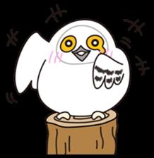 snowy owl sticker #2327114