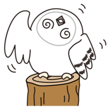snowy owl sticker #2327115