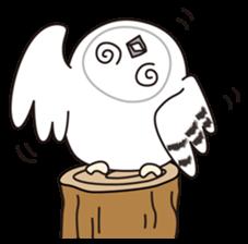 snowy owl sticker #2327115