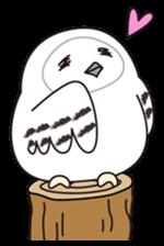 snowy owl sticker #2327120