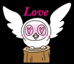 snowy owl sticker #2327125