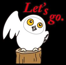 snowy owl sticker #2327127