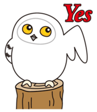 snowy owl sticker #2327128