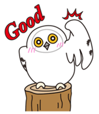snowy owl sticker #2327130