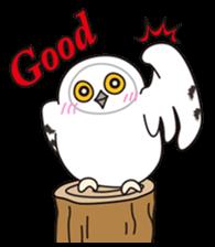 snowy owl sticker #2327130