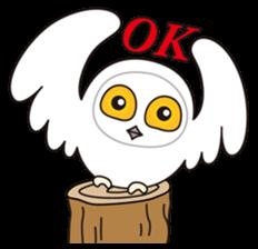 snowy owl sticker #2327131
