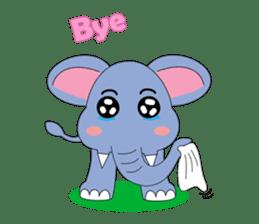 Fah-Sai : Smile elephant sticker #2330444