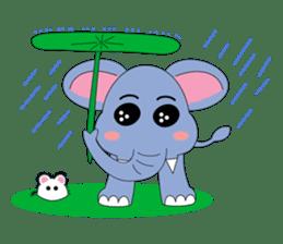 Fah-Sai : Smile elephant sticker #2330451