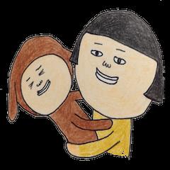 Mom&kids sticker