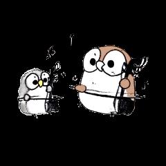 Erhu-owl Stickers vol.2