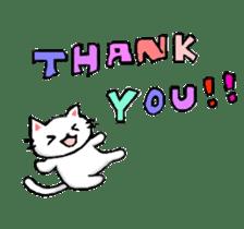 White cat that was heartwarming sticker #2353360