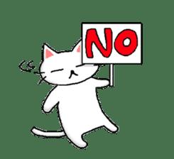 White cat that was heartwarming sticker #2353364