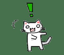 White cat that was heartwarming sticker #2353367