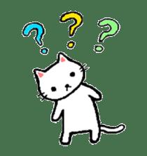 White cat that was heartwarming sticker #2353368