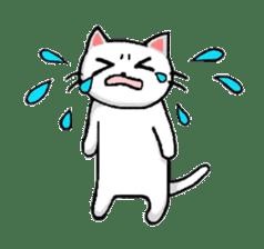 White cat that was heartwarming sticker #2353370